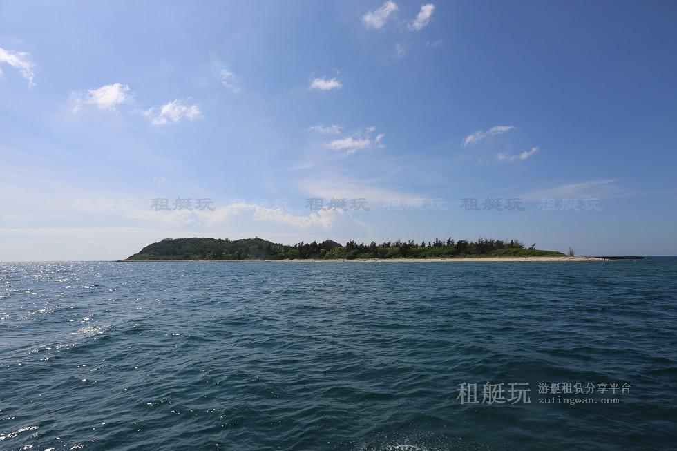 三亚旅游游艇租赁,三亚港至东岛航线
