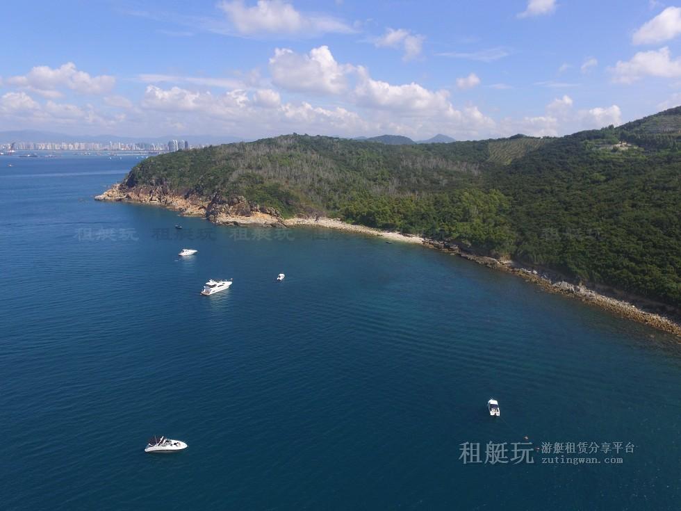 三亚旅游游艇租赁,三亚港至三亚角航线