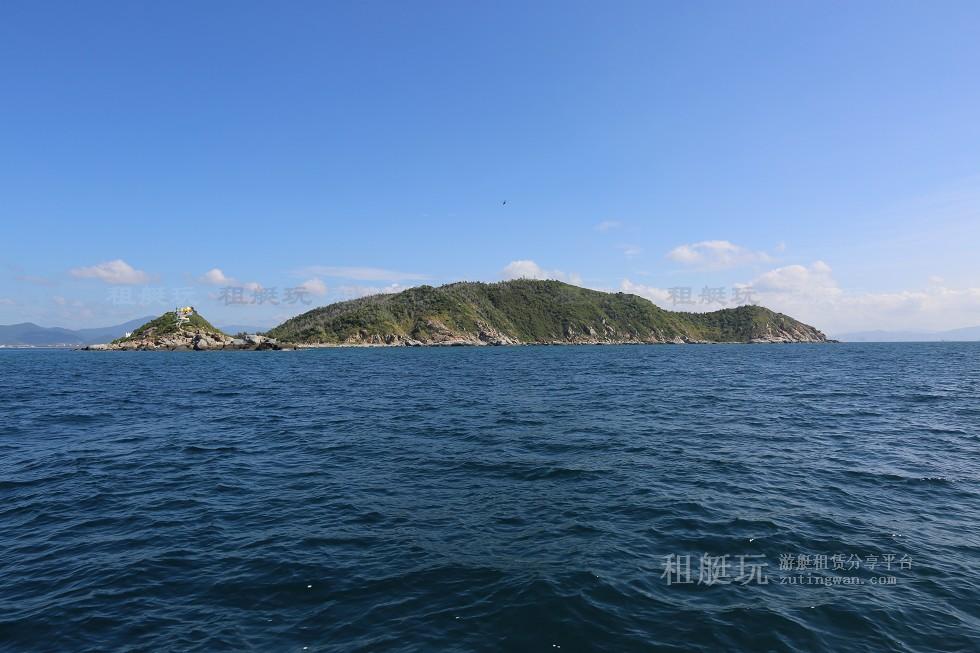 三亚旅游游艇租赁,三亚港至西岛航线