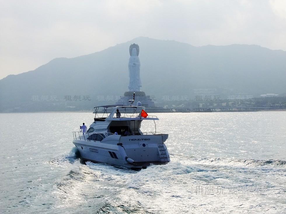 三亚旅游 游艇帆船租赁 三亚港-东/西岛-南山海上观音