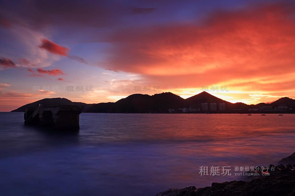 三亚旅游游艇 帆船租赁三亚港——小东海、大东海航线