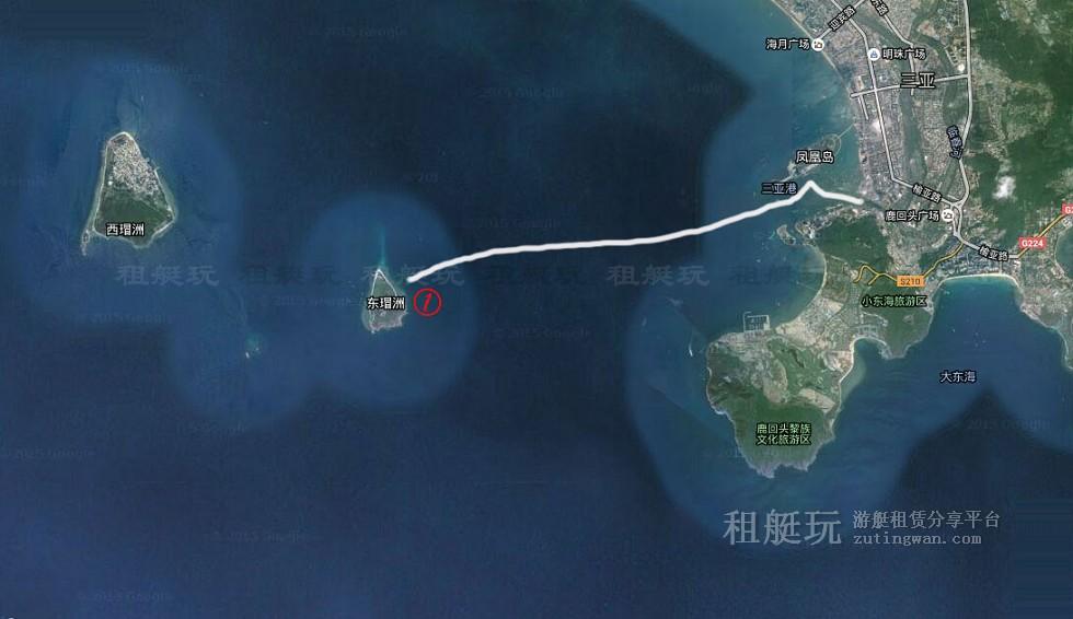 三亚旅游游艇租赁 三亚港-东岛线路