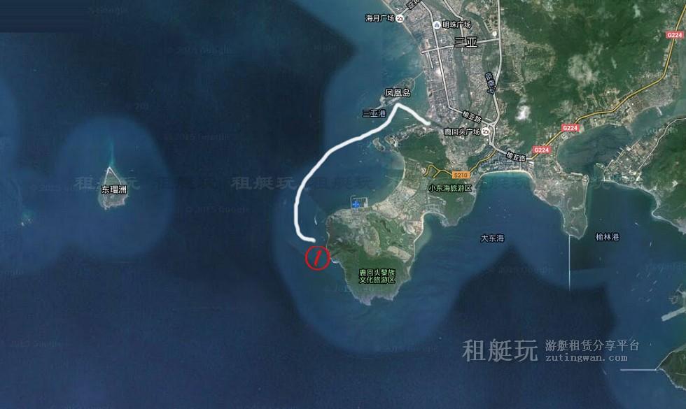 三亚旅游游艇租赁 三亚港-三亚角线路