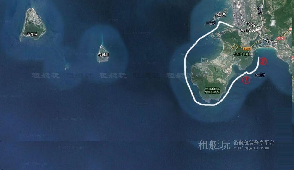 三亚旅游游艇租赁 三亚港-大东海-小东海航线