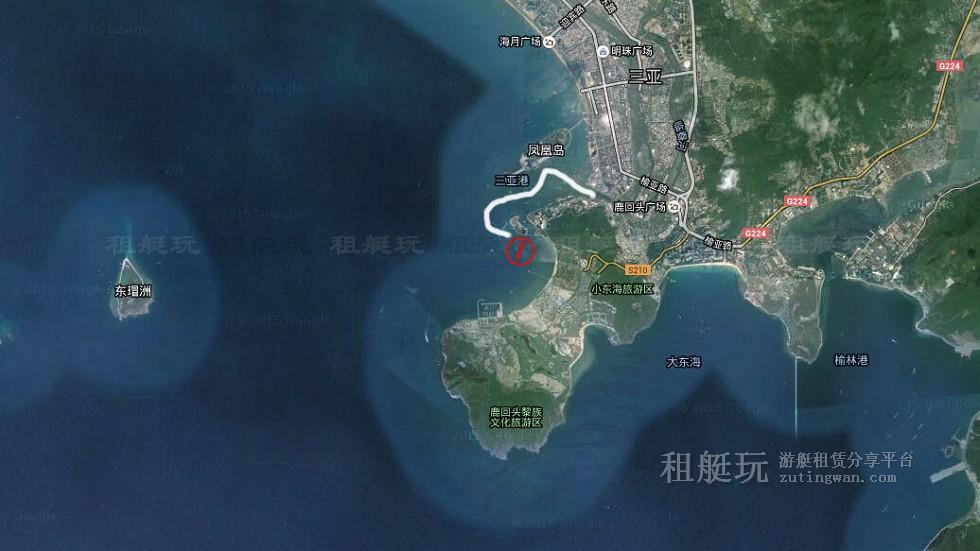 三亚旅游游艇租赁 三亚港-凤凰岛-小青州航线