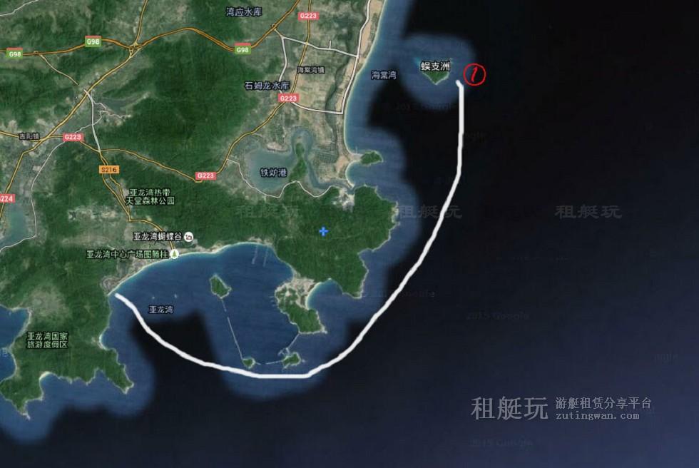 三亚旅游游艇租赁 亚龙湾游艇会-蜈支洲岛航线
