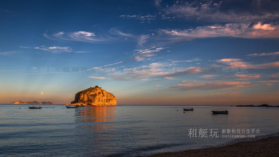 大连星海湾游艇码头→棒棰岛→大连星海湾游艇码头